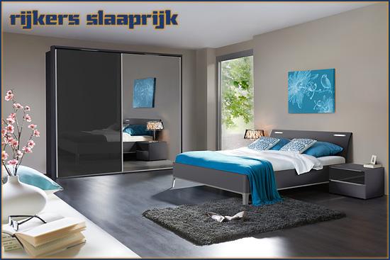 De moderne slaapkamer Evena met linnenkast Elino van Nolte Meubelen, in de kleur antraciet