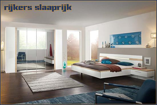 Slaapkamer Deseo van Nolte, uitgevoerd in wit met Icona Beuken.